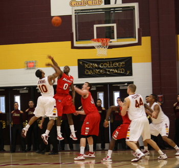 #10 Jermal Jenkins elevates his shot against Marist