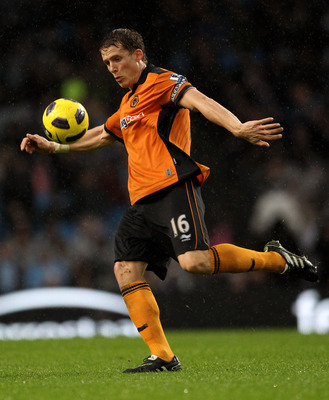 MANCHESTER, ENGLAND - JANUARY 15:   Christophe Berra of Wolverhampton Wanderers in action during the Barclays Premier League match between Manchester City and Wolverhampton Wanderers at the City of Manchester Stadium on January 15, 2011 in Manchester, Eng