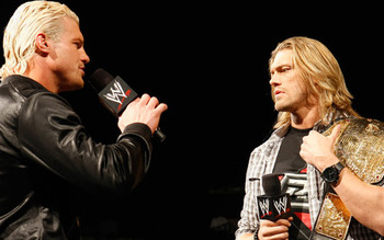 World champion Edge and #1 contender Dolph Ziggler, photo copyright to WWE.com