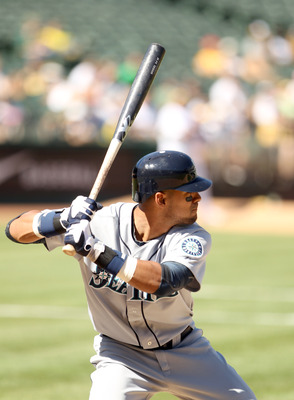 OAKLAND, CA - SEPTEMBER 06:  Franklin Gutierrez #21 of the Seattle Mariners bats against the Oakland Athletics at the Oakland-Alameda County Coliseum on September 6, 2010 in Oakland, California.  (Photo by Ezra Shaw/Getty Images)