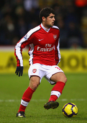 BOLTON, ENGLAND - JANUARY 17:  Fran Merida of Arsenal in action during the Barclays Premier League match between Bolton Wanderers and Arsenal at the Reebok Stadium on January 17, 2010 in Bolton, England. (Photo by Alex Livesey/Getty Images)