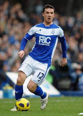 BIRMINGHAM, ENGLAND - JANUARY 16: Barry Ferguson of Birmingham City in action during the Barclays Premier League match between Birmingham City and Aston Villa at St Andrews on January 16, 2011 in Birmingham, England.  (Photo by Laurence Griffiths/Getty Im