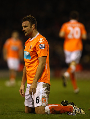 WEST BROMWICH, ENGLAND - JANUARY 15:  Ian Evatt of Blackpool in action during the Barclays Premier League match between West Bromwich Albion and Blackpool at The Hawthorns on January 15, 2011 in West Bromwich, England.  (Photo by Richard Heathcote/Getty I
