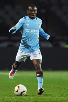TURIN, ITALY - DECEMBER 16:  Shaun Wright-Phillips of Manchester City in action during the UEFA Europa League group A match between Juventus FC and Manchester City at Stadio Olimpico di Torino on December 16, 2010 in Turin, Italy.  (Photo by Valerio Penni