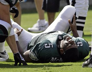 Donovan McNabb missed time to injury in five separate seasons.
