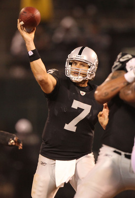 Kyle Boller is does not ispire confindence in his teammates, or Raider Nation.
