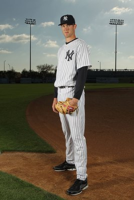 TAMPA, FL - FEBRUARY 25:  Andrew Brackman #64 of the New York Yankees poses for a photo during Spring Training Media Photo Day at George M. Steinbrenner Field on February 25, 2010 in Tampa, Florida.  (Photo by Nick Laham/Getty Images)