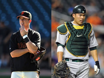 The Bay Area is in for years of debate between which catcher they'd rather have on their team. (Getty Images)