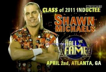 Shawn Michaels will be honoured this year by being inducted to the WWE Hall of Fame at the First Ballot