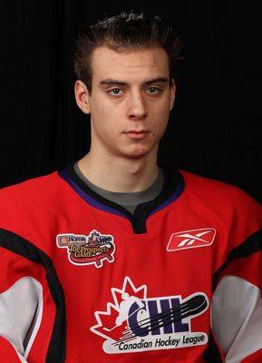 TORONTO, CAN - JANUARY 19:  Duncan Siemens #5 of Team Cherry poses for a Head Shot prior to skating in the 2011 Home Hardware Top Prospects game on January 19, 2011 at the Air Canada Centre in Toronto, Canada. (Photo by Claus Andersen/Getty Images)