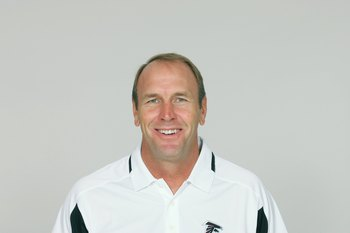 ATLANTA - 2009:  Mike Mularkey of the Atlanta Falcons poses for his 2009 NFL headshot at photo day in Atlanta, Georgia. (Photo by NFL Photos)
