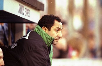 14 Dec 1991:  Portrait of Newcastle United Manager Ossie Ardiles during a match.   \ Mandatory Credit: Steve  Morton/Allsport