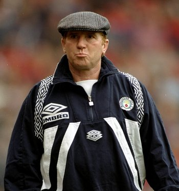 14 Oct 1995:  Portrait of Manchester City Manager Alan Ball during the FA Carling Premiership match against Manchester United played at Old Trafford in Manchester, England.  Manchester United won the match 1-0. \ Mandatory Credit: Mark  Thompson/Allsport