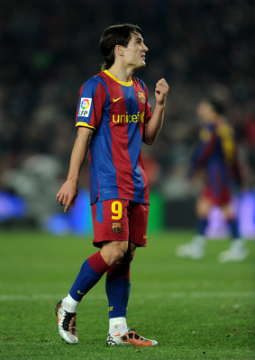 BARCELONA, SPAIN - DECEMBER 21:  Bojan Krkic of Barcelona looks on during the round of last 16 Copa del Rey match between FC Barcelona and Athletic Bilbao at the Camp Nou stadium on December 21, 2010 in Barcelona, Spain.  (Photo by Jasper Juinen/Getty Ima