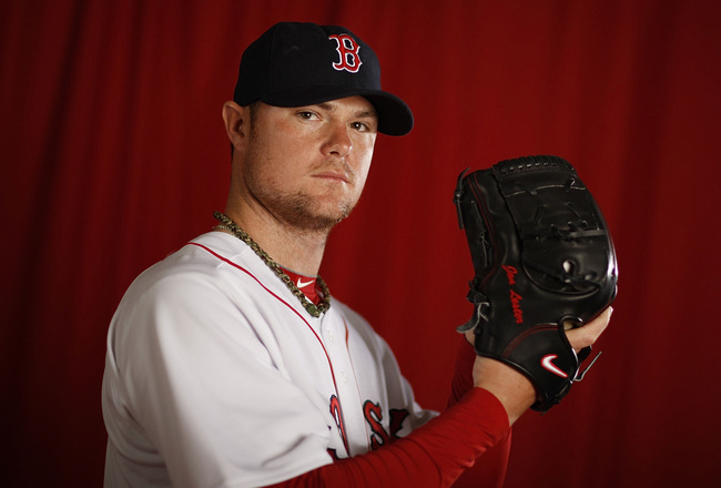 FT. MYERS, FL - FEBRUARY 28: Jon Lester #31 of the Boston Red Sox poses during photo day at the Boston Red Sox Spring Training practice facility on February 28, 2010 in Ft. Myers, Florida.  (Photo by Gregory Shamus/Getty Images)