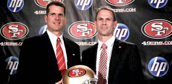 Harbaugh and new GM, Trent Baalke