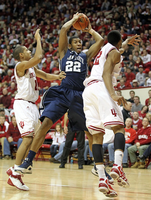 BLOOMINGTON, IN - DECEMBER 27:  Andrew Jones #22 of Penn State Nittany Lions grabs a rebound   during the Big Ten Conference game against the Indiana Hoosiers on December 27, 2010 at Assembly Hall in Bloomington, Indiana.  (Photo by Andy Lyons/Getty Image