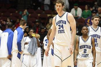 "Mountain State's 7' 8"" junior Paul Sturgess"