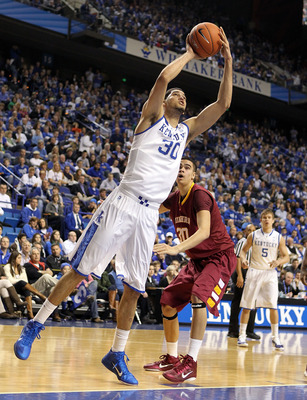 LEXINGTON, KY - DECEMBER 22:  Eloy Vargas #30 of the Kentucky Wildcats shoots the ball during the game against the Winthrop Eagles on December 22, 2010 in Lexington, Kentucky.  Kentucky won 89-52.  (Photo by Andy Lyons/Getty Images)