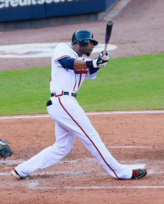ATLANTA - SEPTEMBER 29:  Jason Heyward #22 of the Atlanta Braves against the Florida Marlins at Turner Field on September 29, 2010 in Atlanta, Georgia.  (Photo by Kevin C. Cox/Getty Images)
