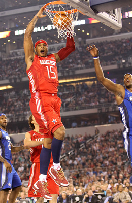 ARLINGTON, TX - FEBRUARY 14:  Carmelo Anthony #15 of the Western Conference shoots against LeBron James #23 and Dwight Howard #12 of the Eastern Conference during the first quarter of the NBA All-Star Game, part of 2010 NBA All-Star Weekend at Cowboys Sta