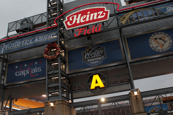 PITTSBURGH, PA - JANUARY 01:  The facade of Heinz Field is seen prior to the start of the 2011 NHL Bridgestone Winter Classic between the Washignton Capitals and the Pittsburgh Penguins at Heinz Field on January 1, 2011 in Pittsburgh, Pennsylvania.  (Phot