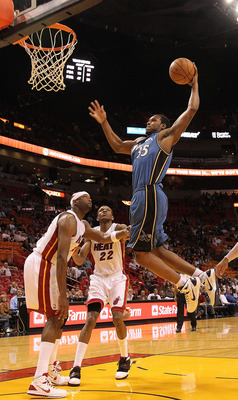 MIAMI, FL - NOVEMBER 29: Trevor Booker #35 of the Washington Wizards dunks during a game against the Miami Heat at American Airlines Arena on November 29, 2010 in Miami, Florida. NOTE TO USER: User expressly acknowledges and agrees that, by downloading an