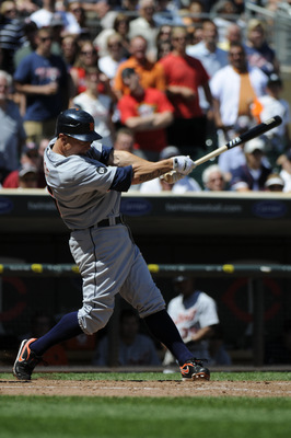 MINNEAPOLIS, MN - JUNE 30: Brandon Inge #15 of the Detroit Tigers bats in the ninth inning against the Minnesota Twins during their game on June 30, 2010 at Target Field in Minneapolis, Minnesota. Twins won 5-1. (Photo by Hannah Foslien /Getty Images)