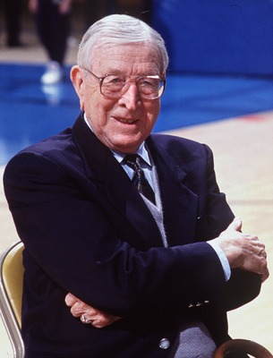 11 Feb 1993: A FORMER OF FORMER UCLA MEN''S BASKETBALL COACH JOHN WOODEN.