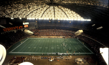 The Astrodome, home of the Houston Oilers, Houston,  Texas, 1983.  (Photo by Al Messerschmidt/Getty Images)