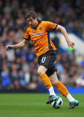 LONDON, ENGLAND - OCTOBER 23:  Stephen Ward of Wolverhampton Wanderers in action during the Barclays Premier League match between Chelsea and Wolverhampton Wanderers at Stamford Bridge on October 23, 2010 in London, England.  (Photo by Clive Rose/Getty Im