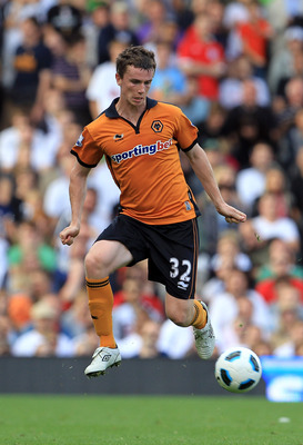 LONDON, ENGLAND - SEPTEMBER 11:  Kevin Foley of Wolverhampton Wanderers during the Barclays Premier League match between Fulham and Wolverhampton Wanderers at Craven Cottage on September 11, 2010 in London, England.  (Photo by David Cannon/Getty Images)