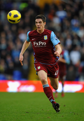 BIRMINGHAM, ENGLAND - JANUARY 16: Ciaran Clark of Aston Villa in action during the Barclays Premier League match between Birmingham City and Aston Villa at St Andrews on January 16, 2011 in Birmingham, England.  (Photo by Laurence Griffiths/Getty Images)