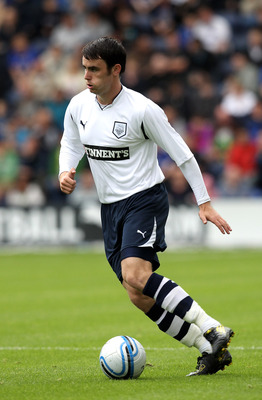 PRESTON, LANCASHIRE - JULY 24:  Keith Treacy of Preston North End runs with the ball during the pre season friendly match between Preston North End and Everton at Deepdale on July 24, 2010 in Preston, Lancashire.  (Photo by David Rogers/Getty Images)