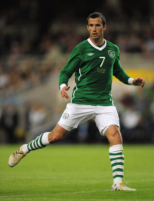 DUBLIN, IRELAND - AUGUST 11:  Keith Fahey of Republic of Ireland in action during the International Friendly match between Republic of Ireland and Argentina at the Aviva Stadium on August 11, 2010 in Dublin, Ireland.  (Photo by Shaun Botterill/Getty Image