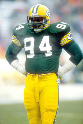 Green Bay Packers # 94 defensive end  Charles Martin . Martin, who had the nickname 'Too Mean,' played for the Packers from 1984-87. died from complications of his renal (kidney) disease at the age of 46 on January 26 , 2005 in Houston Texas.  (Photo by A