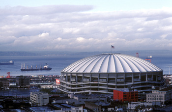 Kingdome, home of the Seattle Seahawks, Seattle, Washington, November 1984.  (Photo by Al Messerschmidt/Getty Images)