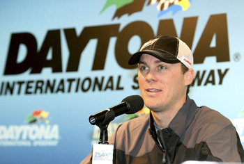 DAYTONA BEACH, FL - JANUARY 21:  Kevin Harvick, driver of the #29 Budweiser Chevrolet, addresses the media at Daytona International Speedway on January 21, 2011 in Daytona Beach, Florida.  (Photo by Jerry Markland/Getty Images for NASCAR)