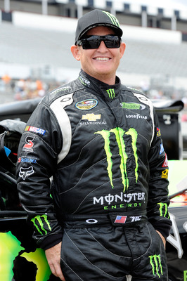 LONG POND, PA - JULY 31:  Ricky Carmichael, driver of the #4 Monster Energy Chevrolet, stands on the grid prior to the start of the NASCAR Camping World Truck Series Pocono Mountains 125 at Pocono Raceway on July 31, 2010 in Long Pond, Pennsylvania.  (Pho
