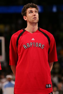 DENVER - NOVEMBER 18:  of the Toronto Raptors looks on before game action against the Denver Nuggets on November 18, 2006 at the Pepsi Center in Denver, Colorado.The Nuggets won 117-109. NOTE TO USER: User expressly acknowledges and agrees that, by downlo