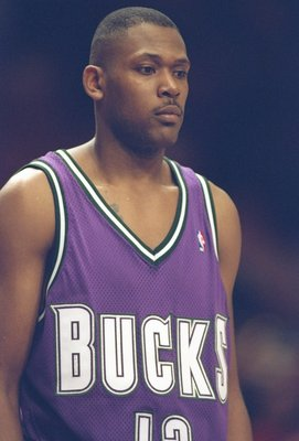 7 Feb 1995: Forward Glenn Robinson of the Milwaukee Bucks stands on the court during a game against the New York Knicks at Madison Square Garden in New York, New York. The Knicks won the game 95-87.