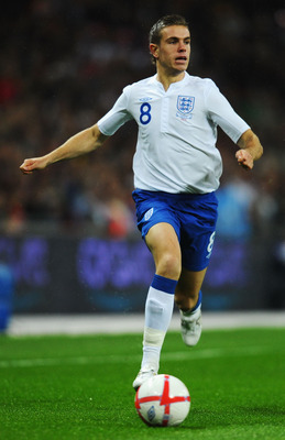 LONDON, ENGLAND - NOVEMBER 17:  Jordan Henderson of England runs with the ball during the international friendly match between England and France at Wembley Stadium on November 17, 2010 in London, England.  (Photo by Mike Hewitt/Getty Images)