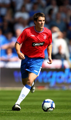 PORTSMOUTH, ENGLAND - AUGUST 08:  Andrew Little of Rangers during a Pre Season Friendly between  Portsmouth and Rangers at Fratton Park on August 8, 2009 in Portsmouth, England.  (Photo by Phil Cole/Getty Images)
