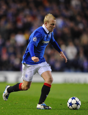 GLASGOW, SCOTLAND - OCTOBER 20:  Steven Naismith of Rangers in action during the UEFA Champions League Group C match between Glasgow Rangers FC and Valencia at Ibrox Stadium on October 20, 2010 in Glasgow, Scotland.  (Photo by Mike Hewitt/Getty Images)