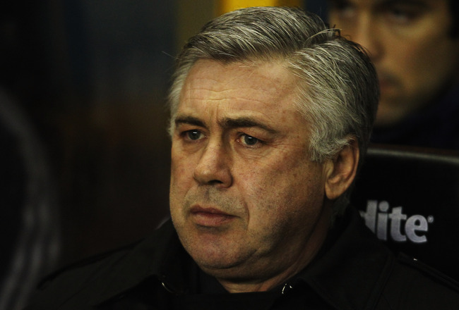 WOLVERHAMPTON, UNITED KINGDOM - JANUARY 05:  Carlo Ancelotti the Chelsea manager is seen before the Barclays Premier League match between Wolverhampton Wanderers and Chelsea at Molineux on January 5, 2011 in Wolverhampton, England.  (Photo by Scott Heavey