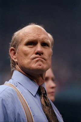 26 Jan 1997:  FOX Sports commentator and Hall of Fame quarterback Terry Bradshaw looks on before Super Bowl XXXI between the Green Bay Packers and the New England Patriots at the Superdome in New Orleans, Louisiana.  The Packers won the game, 35-21. Manda