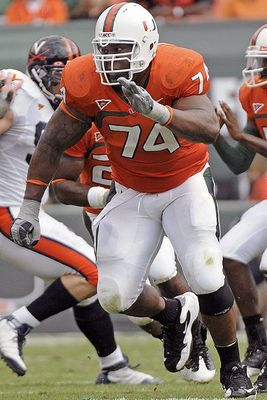 Orlando Franklin played tackle at the University of Miami.
