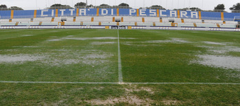 PESCARA, ITALY - JANUARY 22:  The field of Adriatico Stadium before the Serie B match between Pescara and Empoli at Adriatico Stadium on January 22, 2011 in Pescara, Italy.  (Photo by Giuseppe Bellini/Getty Images)
