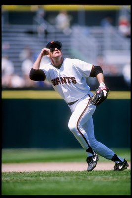 20 May 1995:  Infielder Matt Williams of the San Francisco Giants runs to catch a pop up during a game against the St. Louis Cardinals at Candlestick Park in San Francisco, California.  The Giants won the game 10-7. Mandatory Credit: Otto Greule  /Allspor
