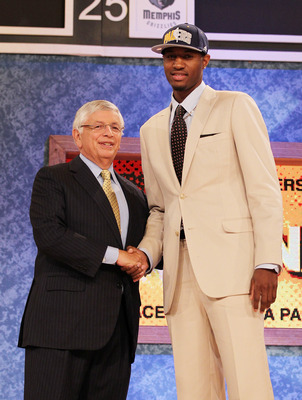 NEW YORK - JUNE 24:  Paul George stands with NBA Commisioner David Stern after being drafted tenth by The Indiana Pacers at Madison Square Garden on June 24, 2010 in New York City.  NOTE TO USER: User expressly acknowledges and agrees that, by downloading